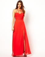 Maxi Dress with Cage Neck Detail